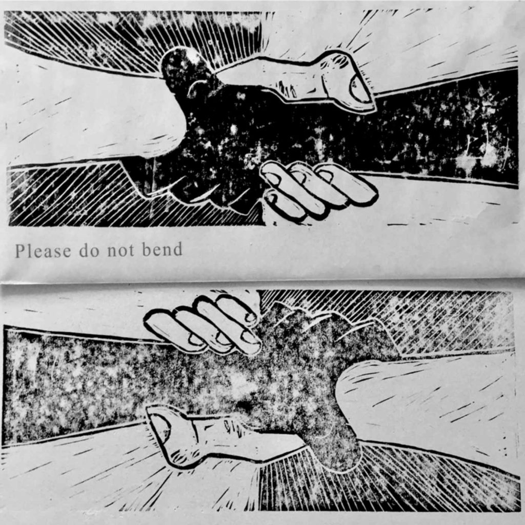 Please Do Not Bend by Sebastian Edmond (Bad Typeface) for BLM - SHSO Leeds