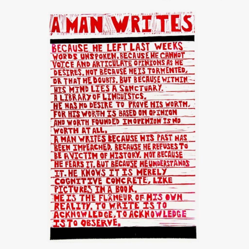 A Man Writes by Sebastian Edmond - SHSO Leeds