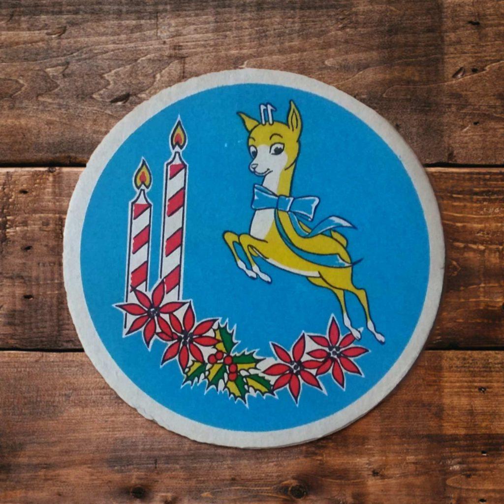 Babycham vintage beermat - Something Happened Somewhere Once - SHSO