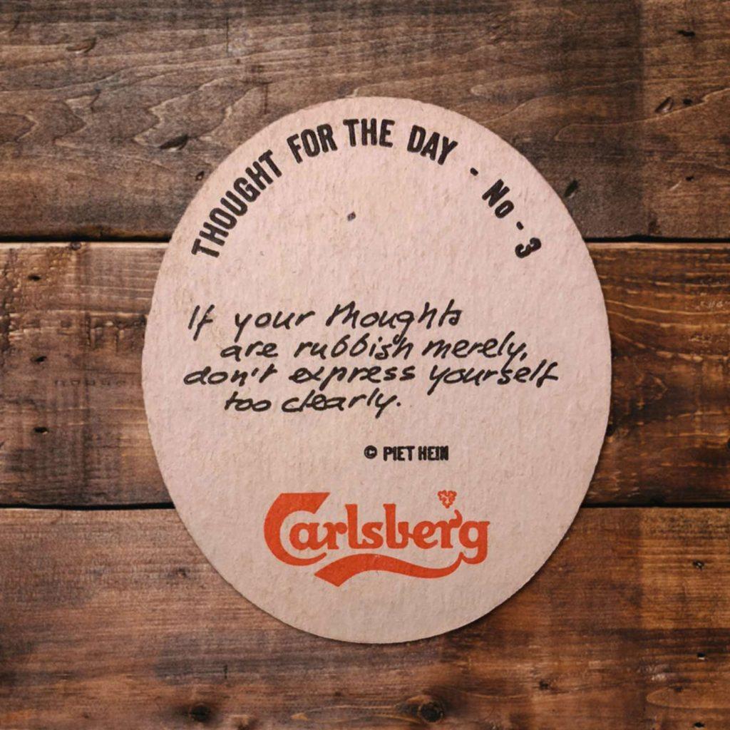 Carlsberg Hof - Vintage Beermats - SHSO Leeds - Something Happened Somewhere Once