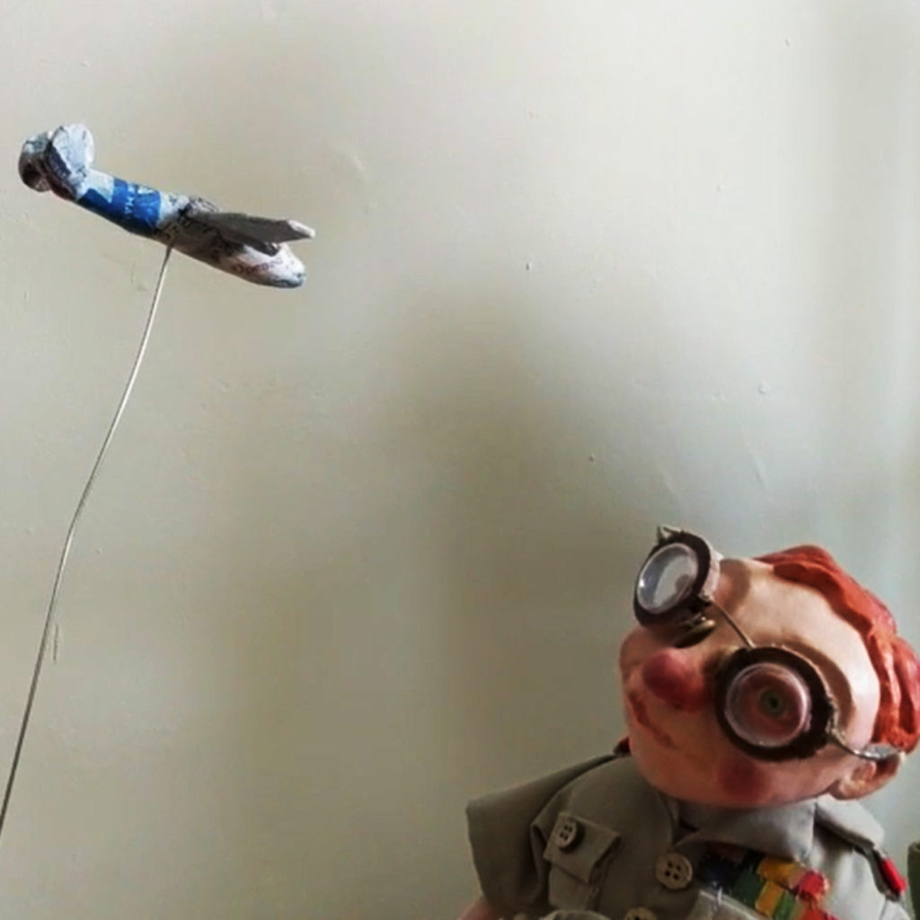 Colonel Rutherford by Dawn Hurton Puppet Artist - SHSO - Something Happened Somewhere Once