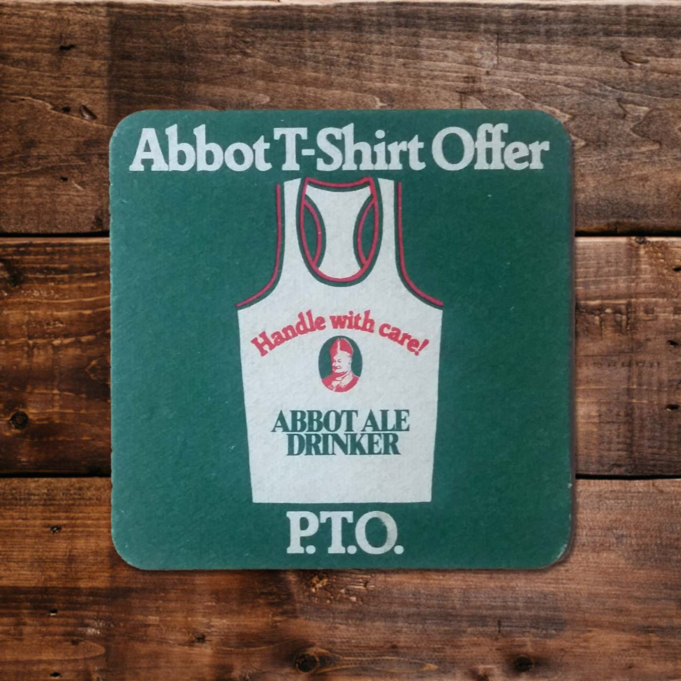 Vintage Beermats - Abbot Ales - SHSO - Something Happened Somewhere Once