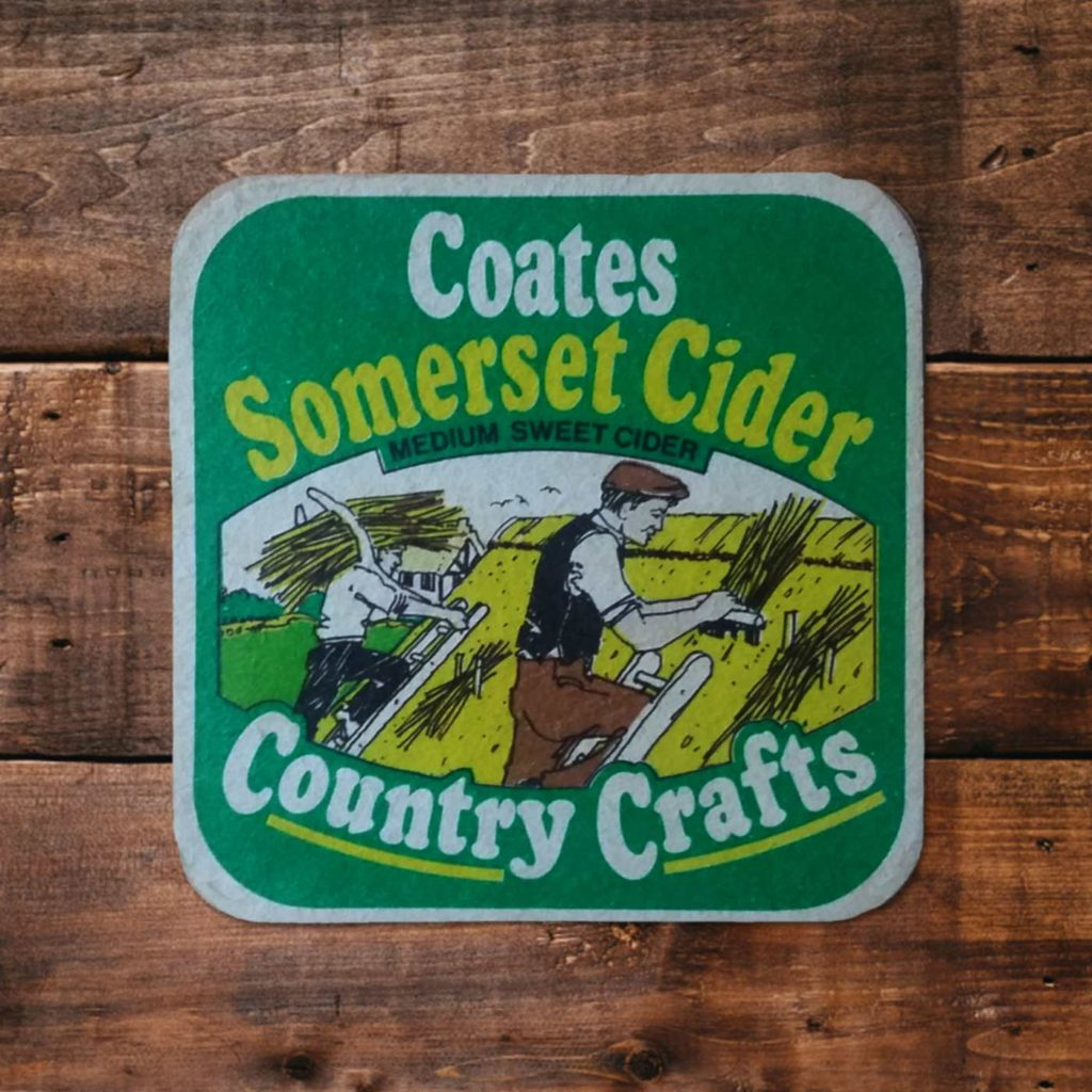 Vintage Beermats - Somerset Cider - Something Happened Somewhere Once - SHSO